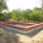 Строительство фундамента для бани