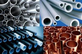 Водопроводные трубы из различных материалов