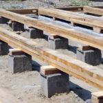 Столбчатый фундамент для легких строений