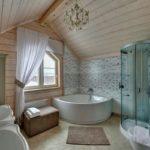 Ванная в загородном доме: быть или не быть?