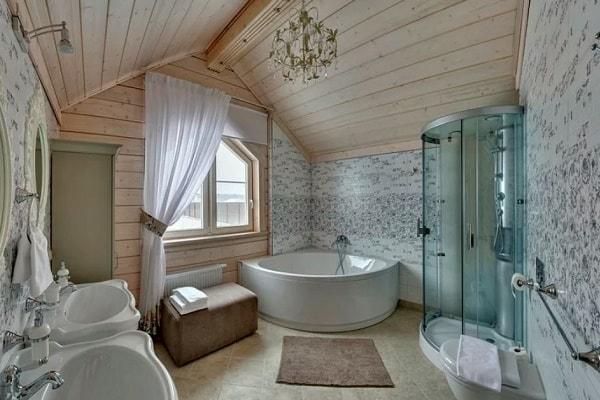 ванна в загородном доме