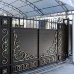 Выбираем конструкцию кованых откатных ворот